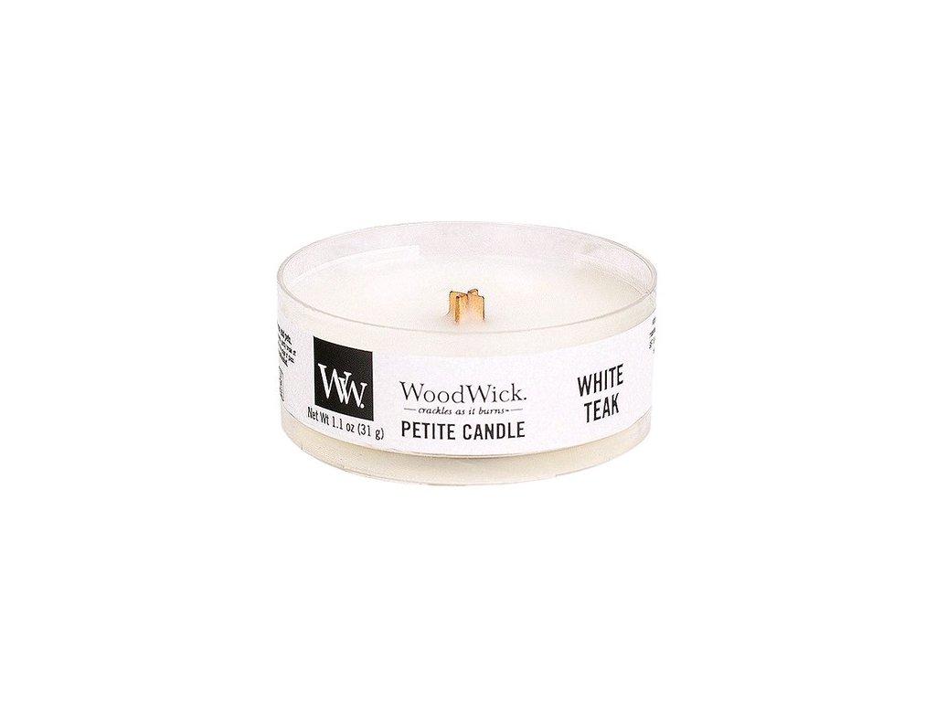 WoodWick Svíčka Petite White Teak, 31 g