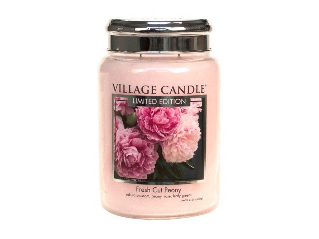 Village Candle Vonná svíčka Pivoňky - Fresh Cut Peony, 602 g
