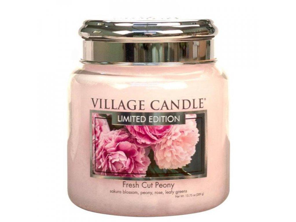 Village Candle Vonná svíčka Pivoňky - Fresh Cut Peony, 390 g