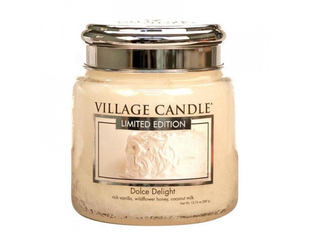 Village Candle Vonná svíčka Sametové Potěšení - Dolce Delight, 390 g