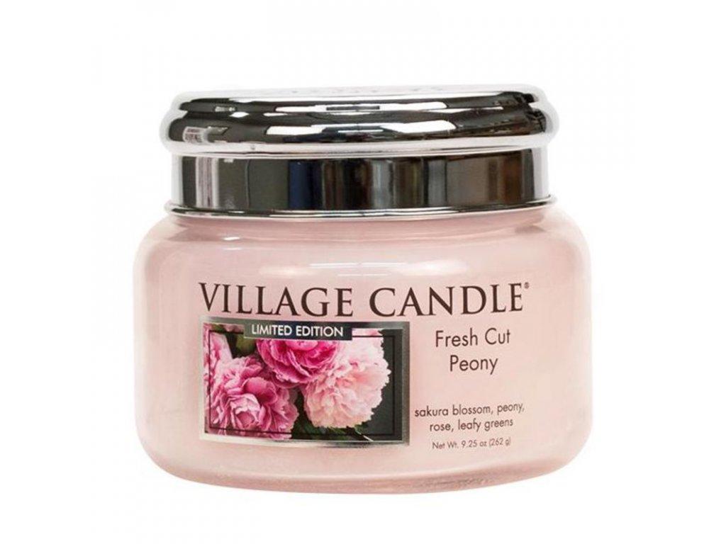 Village Candle Vonná svíčka Pivoňky - Fresh Cut Peony, 262 g