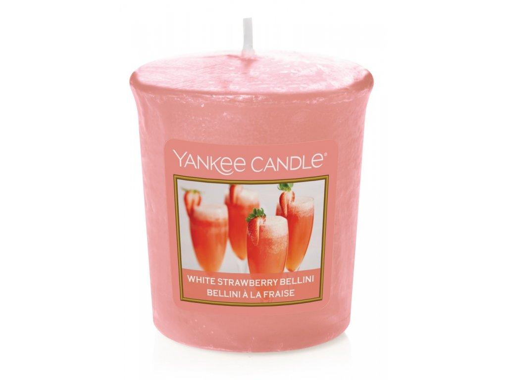 Yankee Candle Vonná Svíčka Votivní White Strawberry Bellini, 49 g