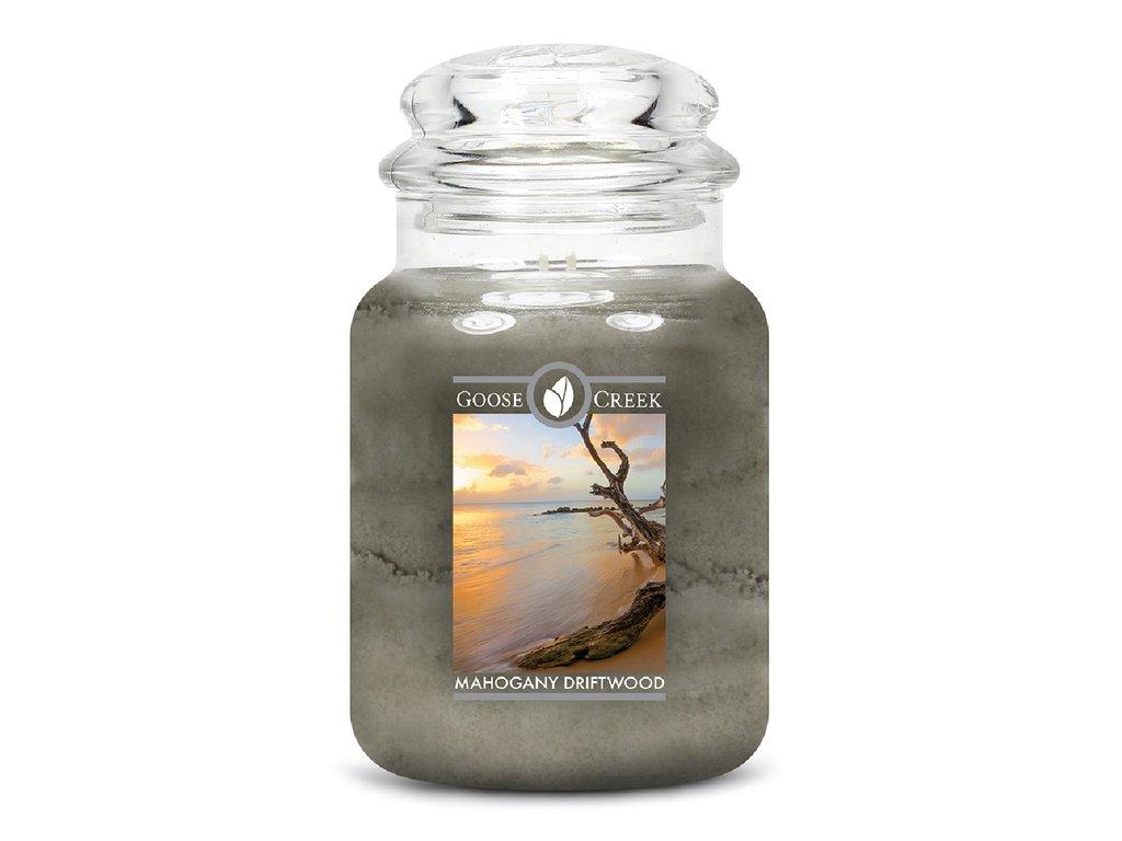 Goose Creek Candle svíčka Naplavené mahagonové dřevo - Mahogany Driftwood, 680 g