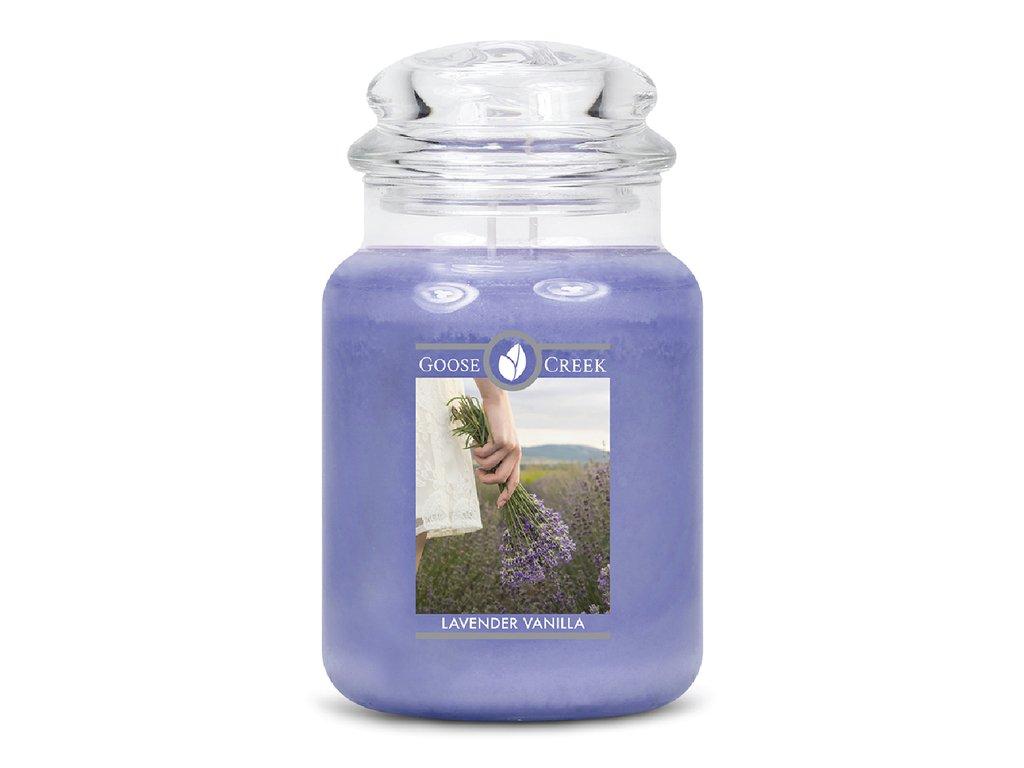 Goose Creek Candle svíčka Vanilková Levandule - Lavender Vanilla, 680 g