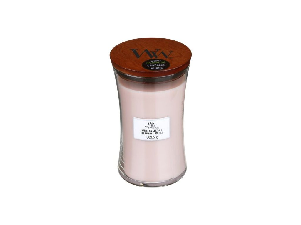 WoodWick Svíčka Vanilla & Sea Salt váza velká, 609,5 g