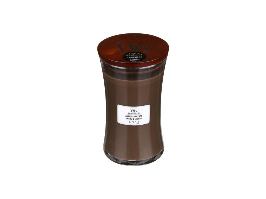 WoodWick Svíčka Amber & Incense váza velká , 609,5 g