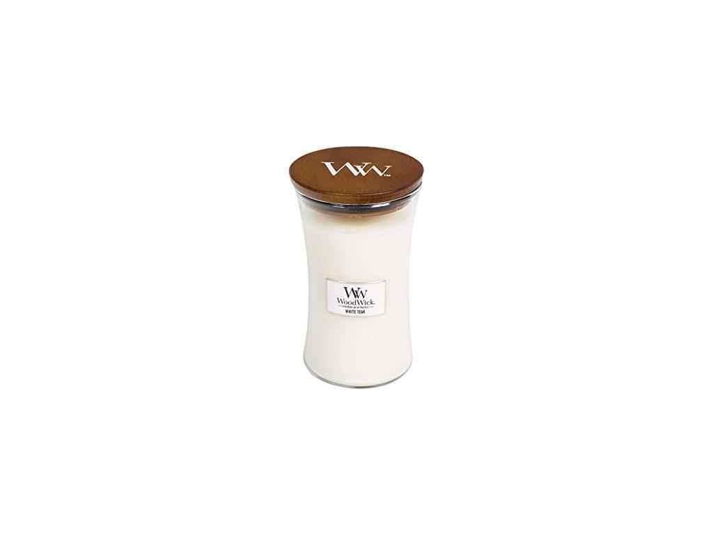 WoodWick Svíčka White Teak váza velká, 609,5 g