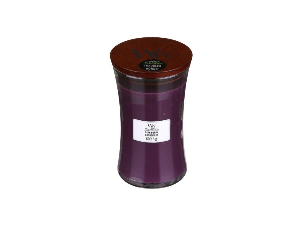 WoodWick Svíčka Dark Poppy váza velká, 609,5 g