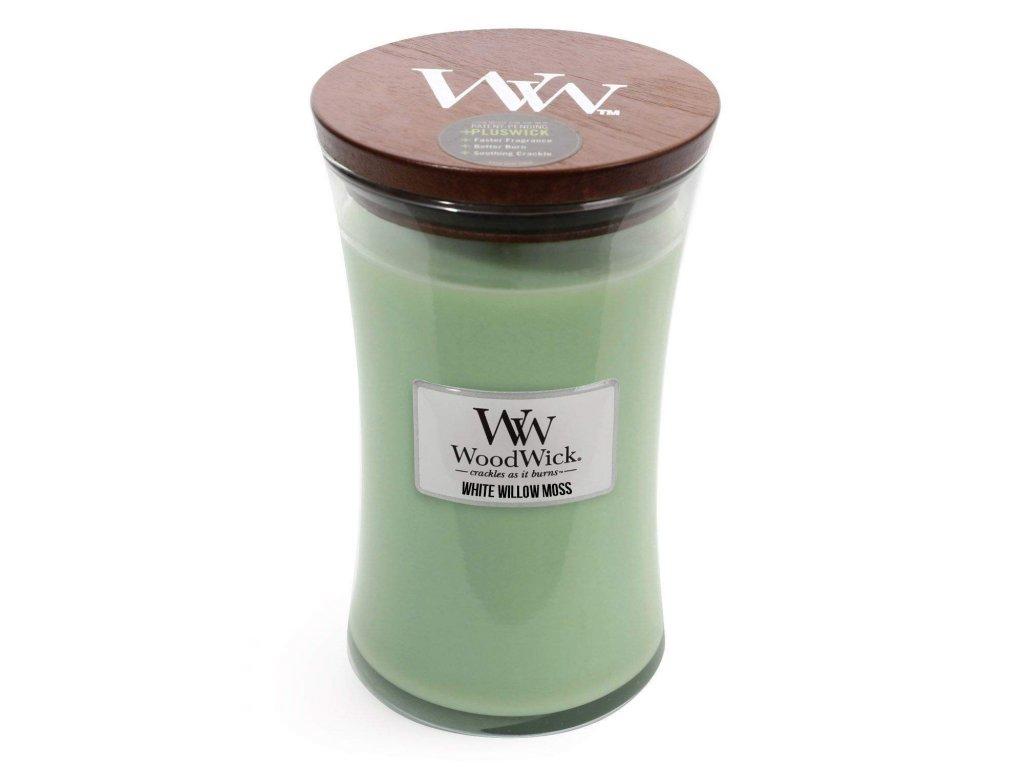 WoodWick Svíčka White Willow Moss váza velká, 609,5 g