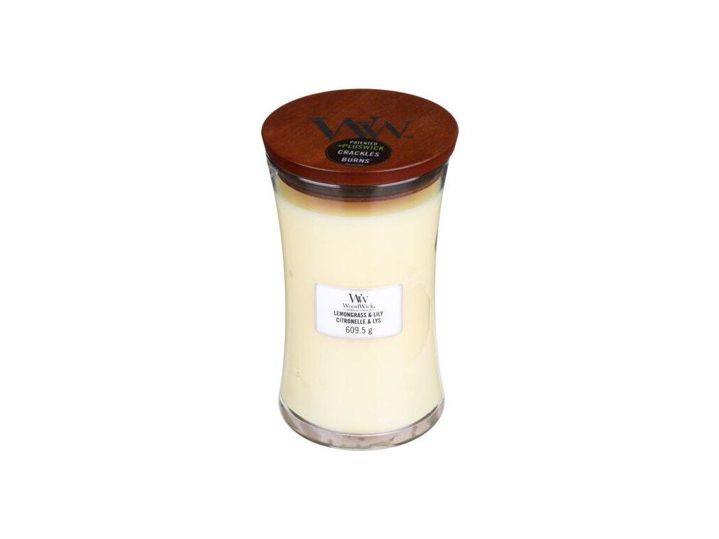 WoodWick Svíčka Lemongrass & Lily váza velká, 609,5 g