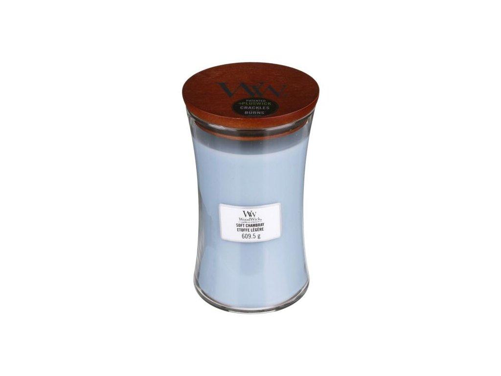WoodWick Svíčka Soft Chambray váza velká, 609,5 g