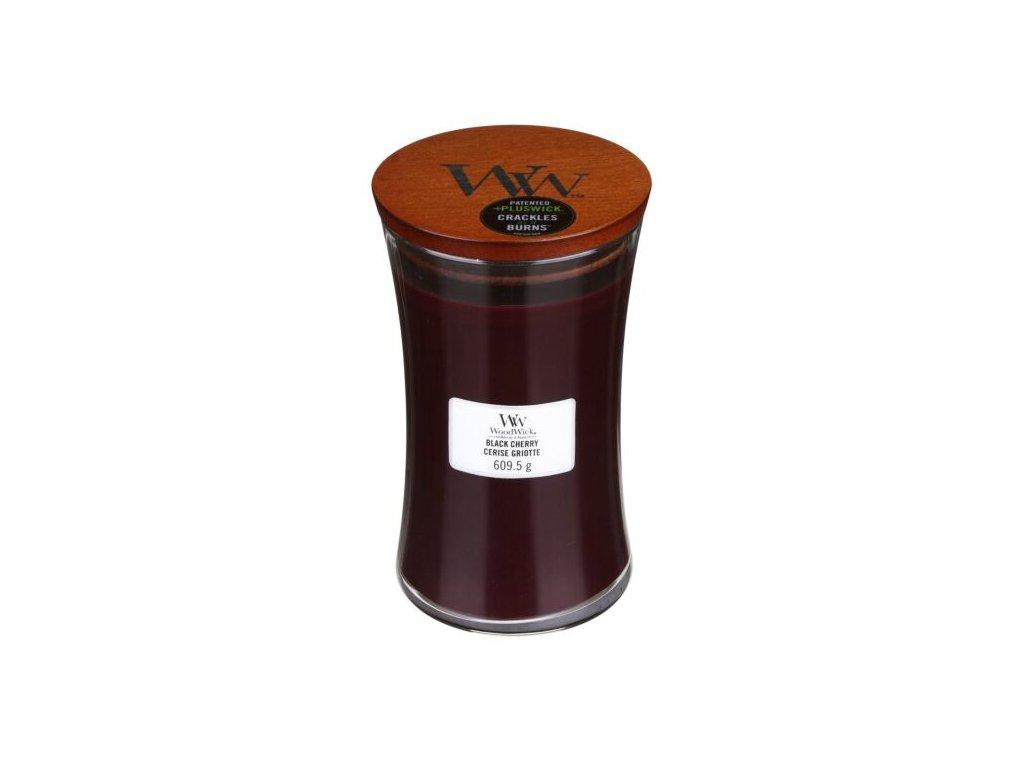 WoodWick Svíčka Black Cherry váza velká, 609,5 g