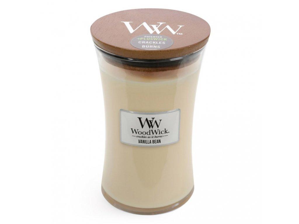 WoodWick Svíčka Vanilla Bean váza velká, 609,5 g