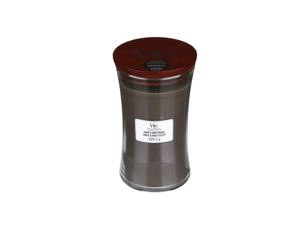 WoodWick Svíčka Sand & Driftwood váza velká, 609,5 g