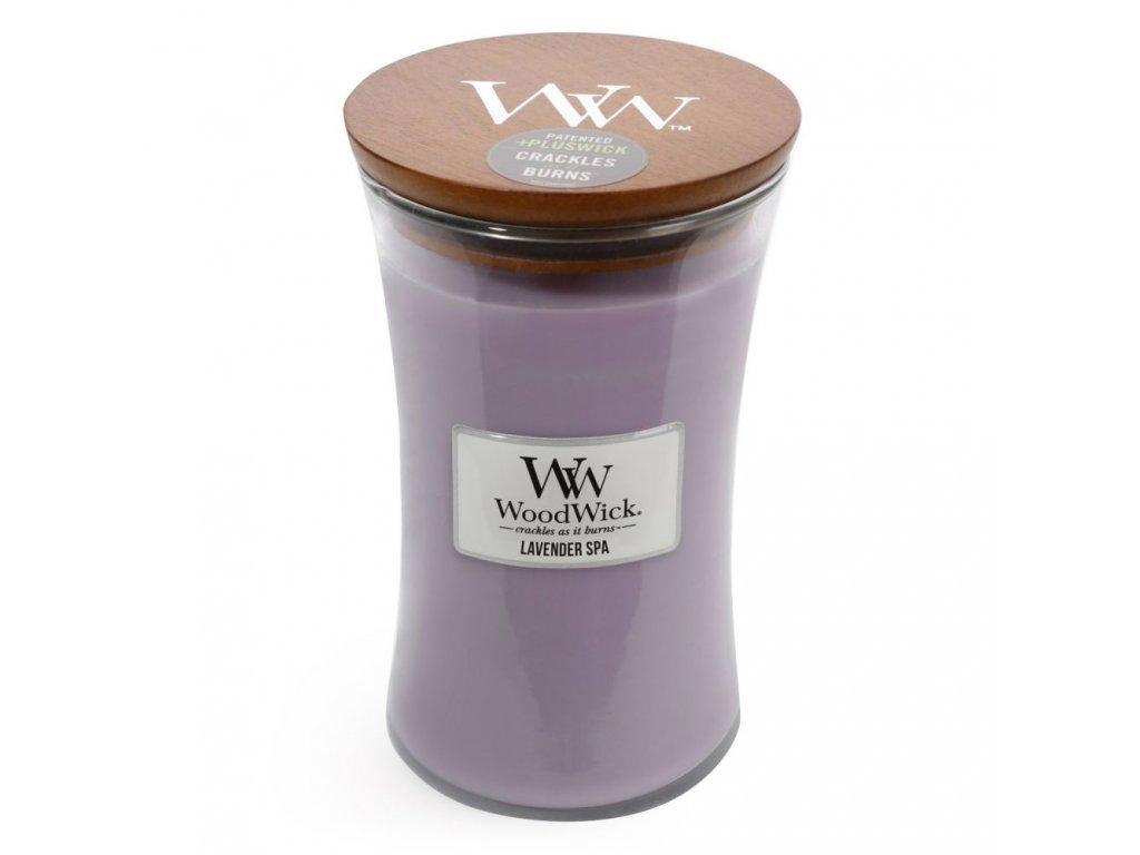WoodWick Svíčka Lavender Spa váza velká, 609,5 g