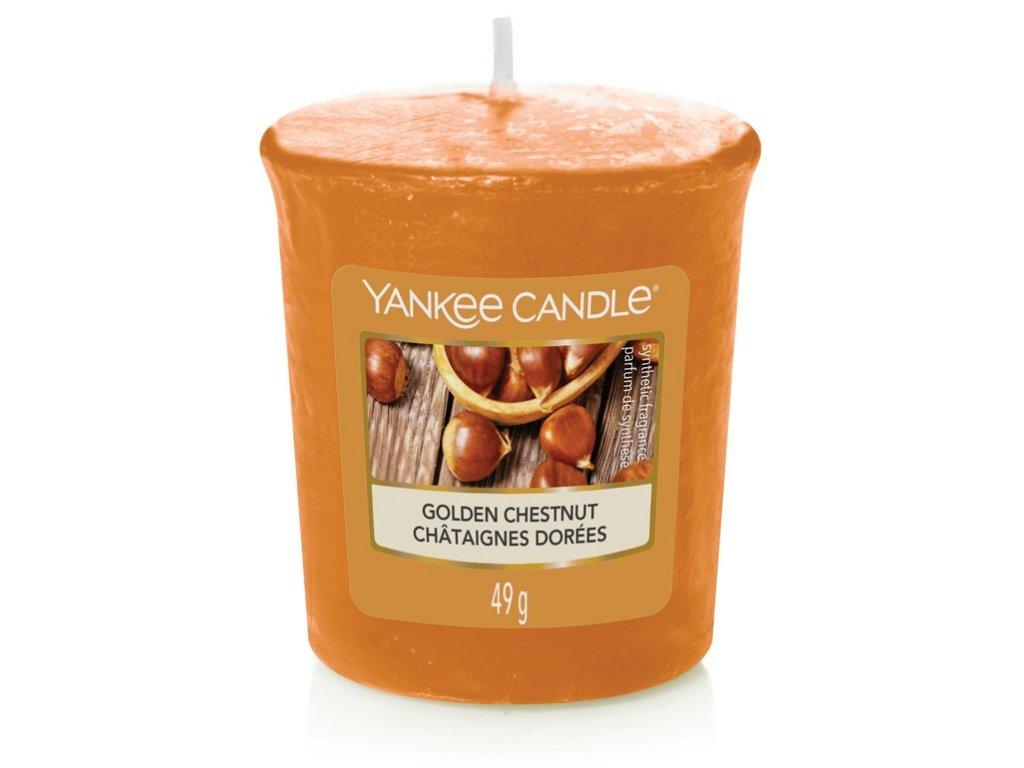 Yankee Candle Vonná Svíčka Votivní Golden Chestnut, 49 g