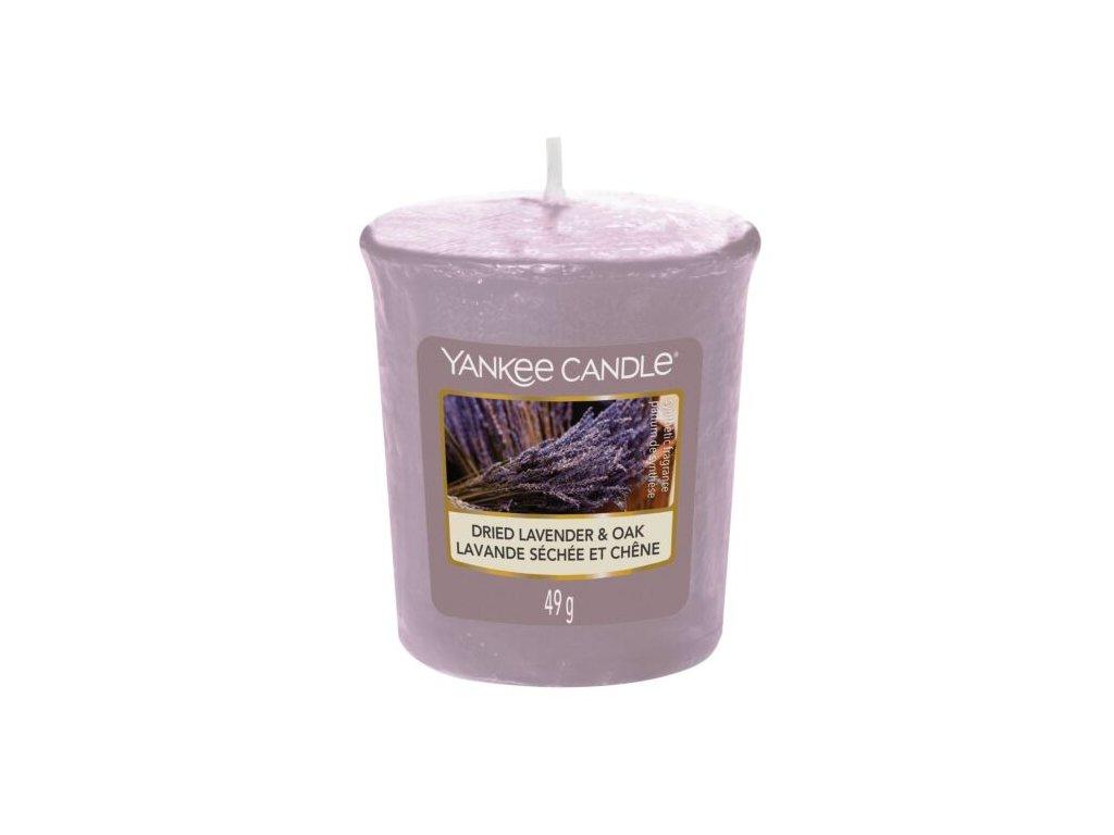 Yankee Candle Vonná Svíčka Votivní Dried Lavender & Oak , 49 g