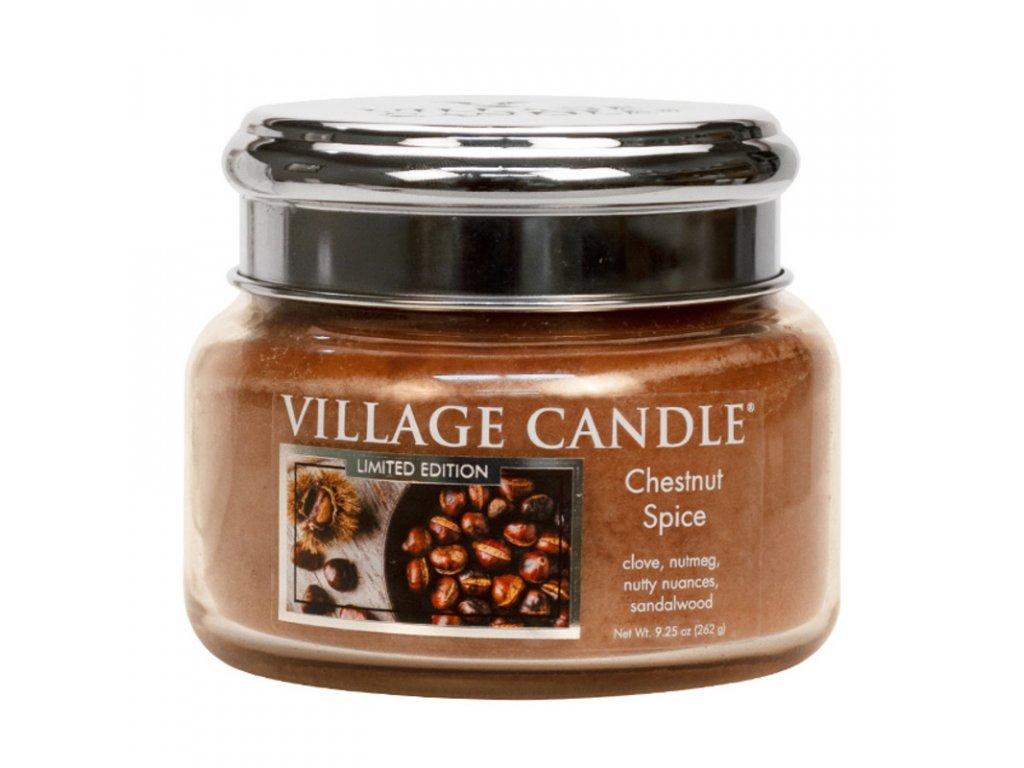 Village Candle Vonná svíčka Chestnut Spice, 262 g