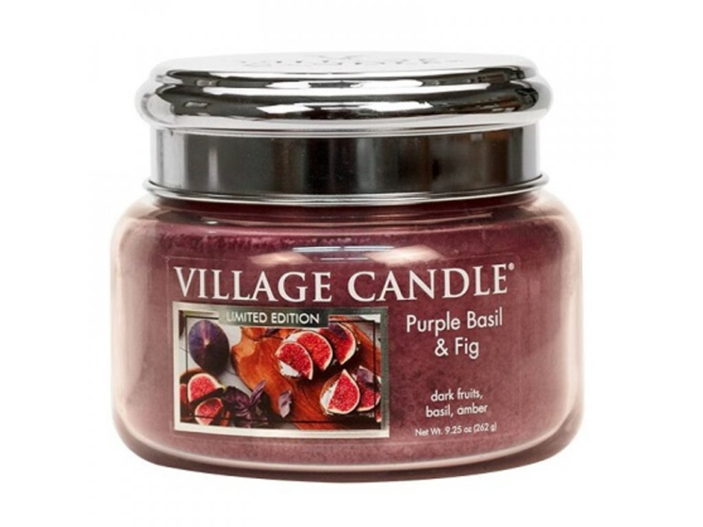 Village Candle Vonná svíčka Purple Basil & Fig, 262 g