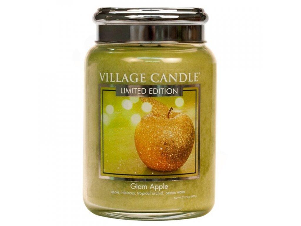 Village Candle Vonná svíčka Glam Apple, 602 g