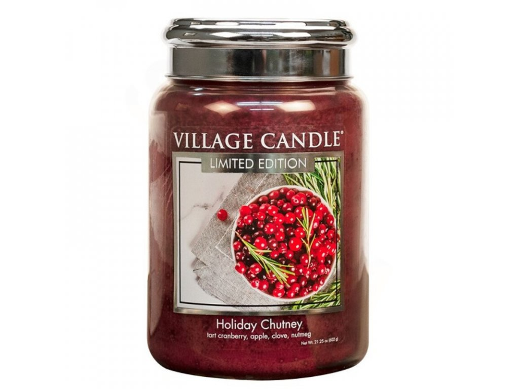Village Candle vonná svíčka Holiday Chutney, 602 g