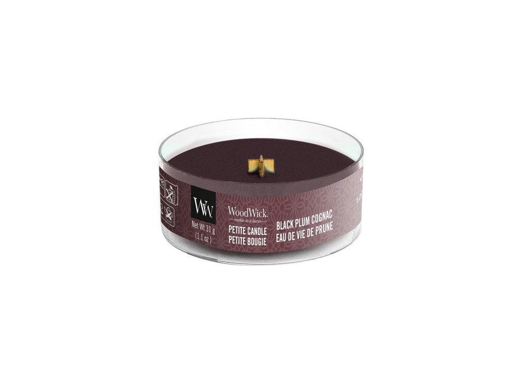 WoodWick Svíčka Petite Black Plum Cognac, 31 g