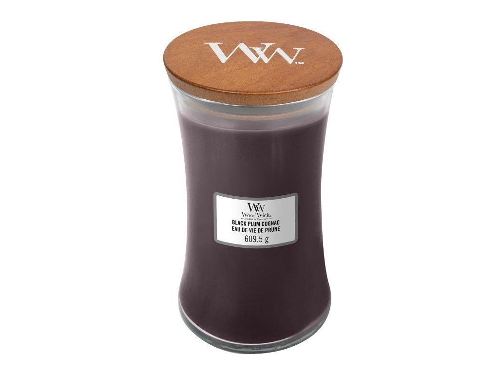 WoodWick Svíčka Black Plum Cognac váza velká, 609,5 g
