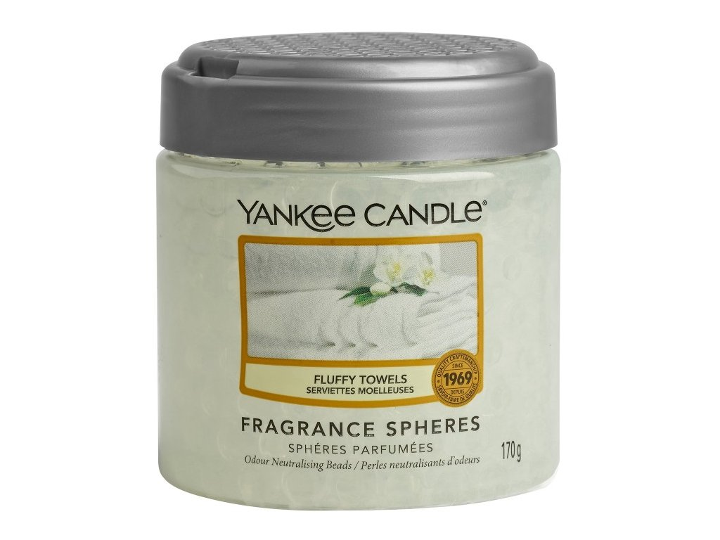 Yankee Candle Fluffy Towels Voňavé perly Spheres, 170 g
