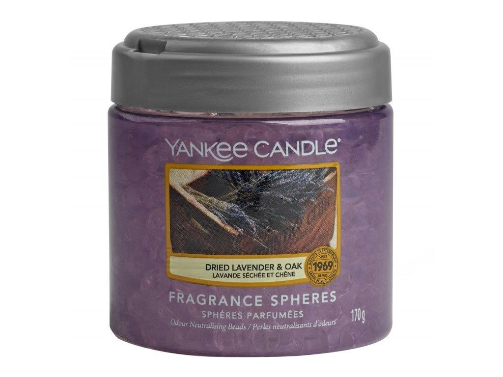 Yankee Candle Dried Lavender & Oak Voňavé perly Spheres, 170g