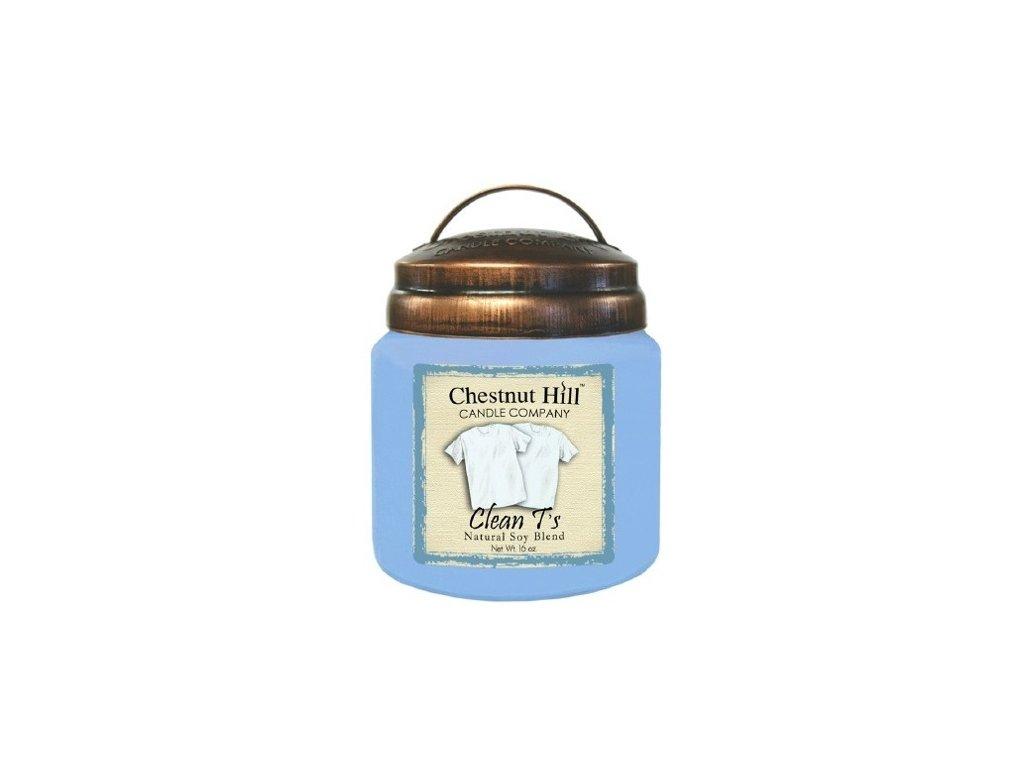 Chestnut Hill Candle svíčka Čisté tričko - Clean T's, 454 g