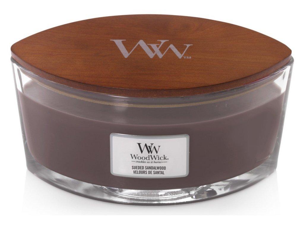 WoodWick Svíčka loď Sueded Sandalwood, 453 g