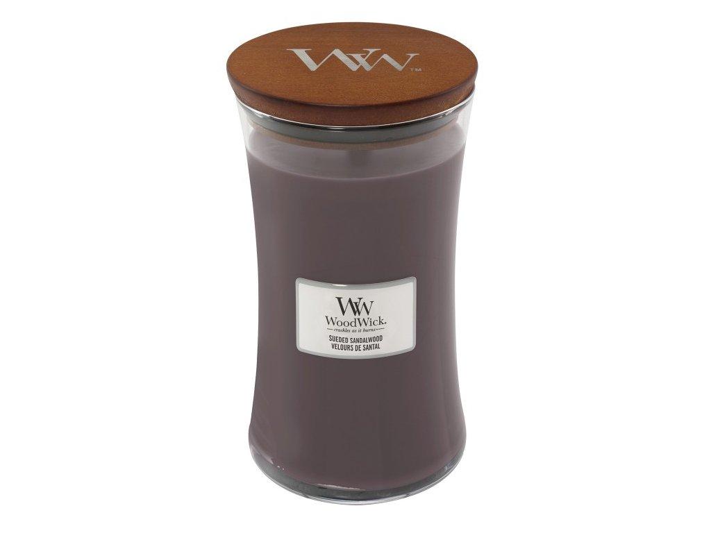 WoodWick Svíčka Sueded Sandalwood váza velká, 609,5 g