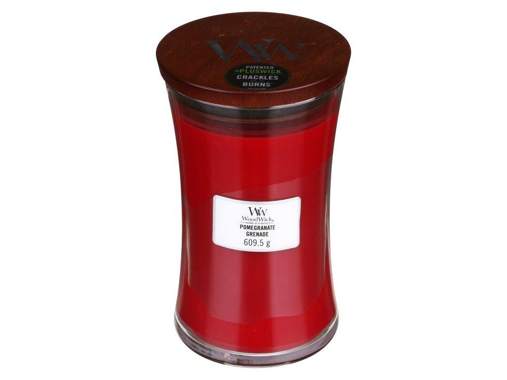 WoodWick Svíčka Pomegranate váza velká, 609,5 g
