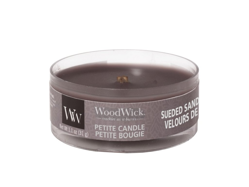 WoodWick Svíčka Petite Sueded Sandalwood, 31 g