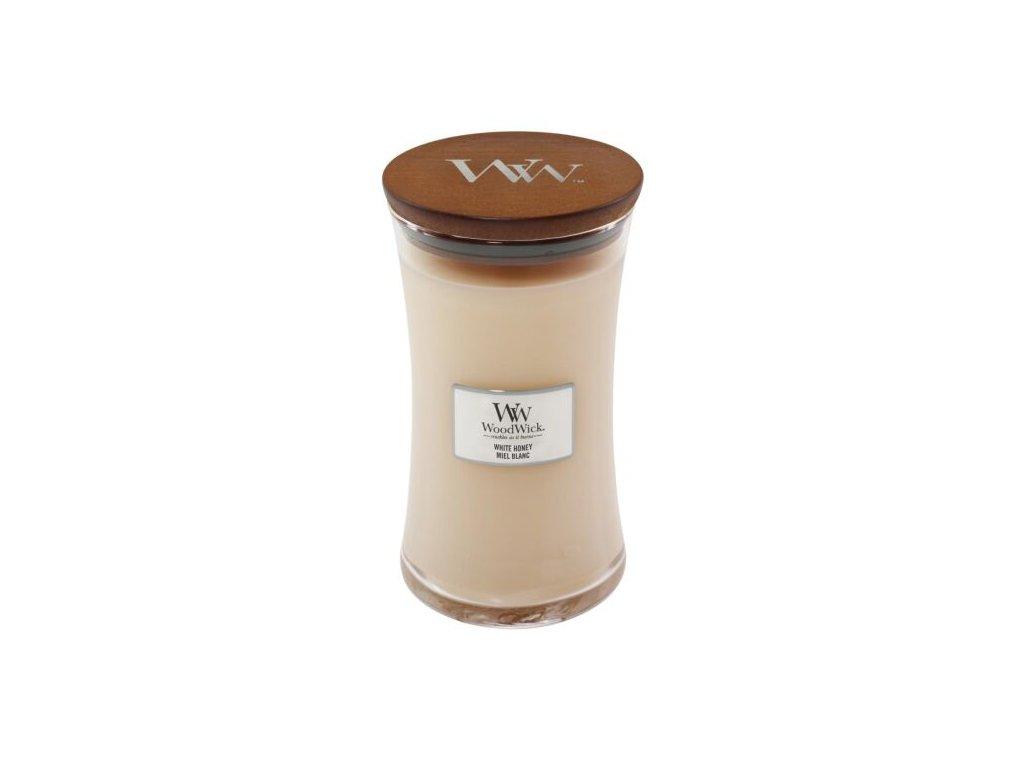WoodWick Svíčka White Honey váza velká, 609,5 g