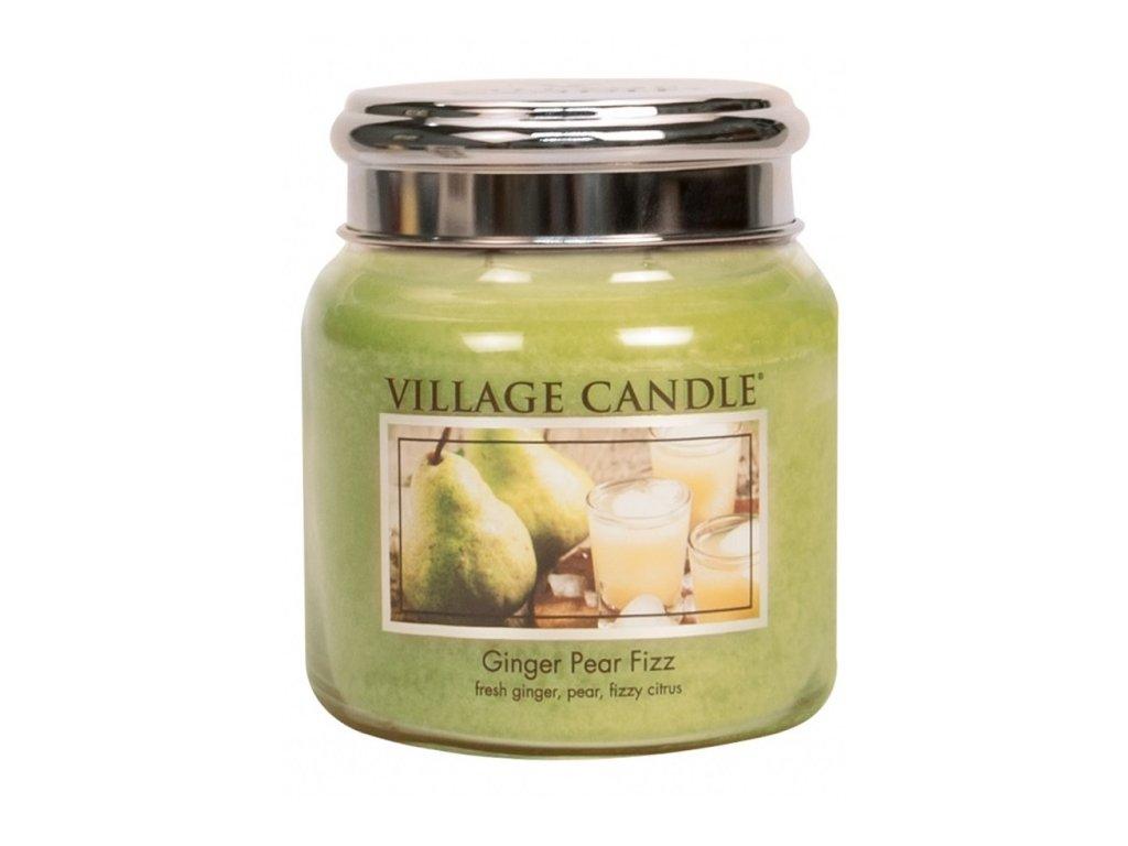 Village Candle Vonná svíčka Hruškový Fizz se Zázvorem - Ginger Pear Fizz, 390 g