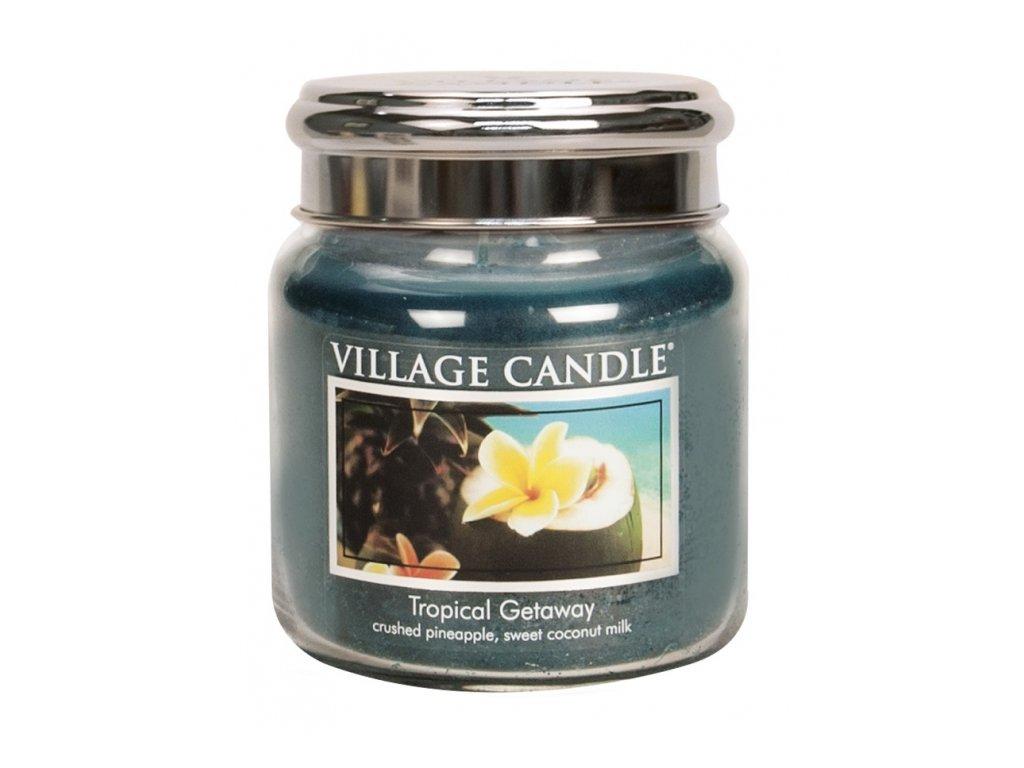 Village Candle Vonná svíčka Víkend V Tropech - Tropical Getaway, 390 g