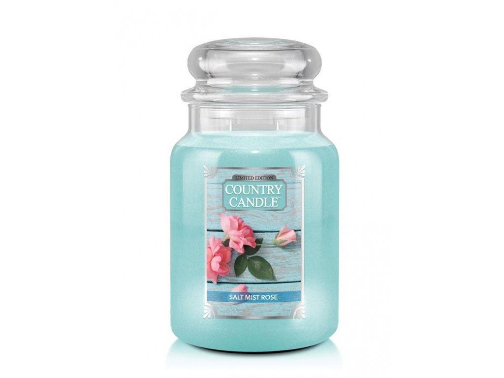 Country Candle Vonná Svíčka Salt Mist Rose, 652 g