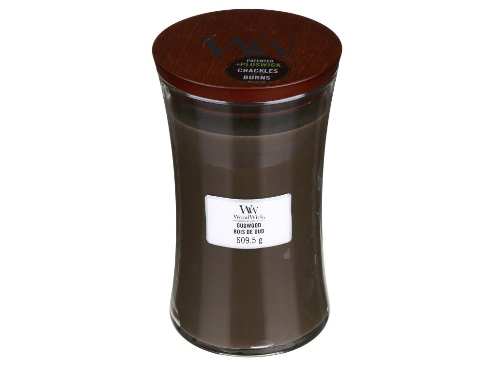 WoodWick Svíčka Oudwood váza velká, 609,5 g