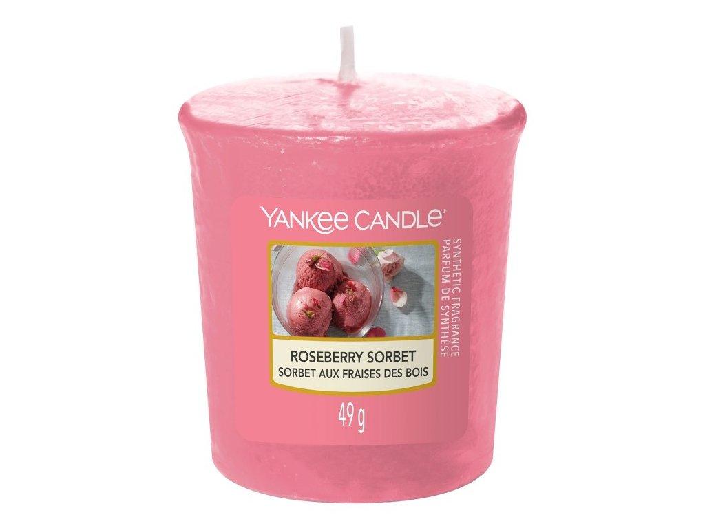 Yankee Candle Vonná Svíčka Votivní Roseberry Sorbet, 49 g