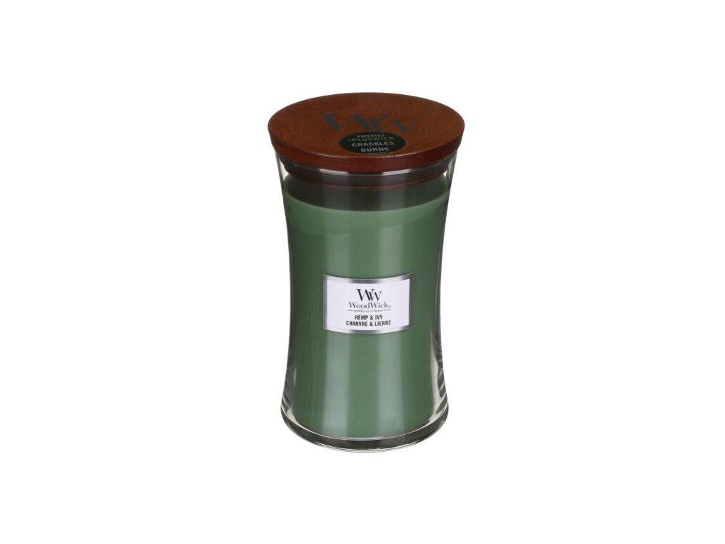 WoodWick Svíčka Hemp & Ivy váza velká, 609,5 g