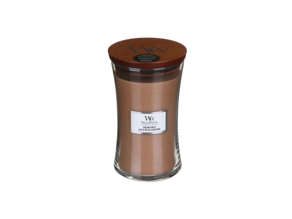 WoodWick Svíčka Golden Milk váza velká, 609,5 g