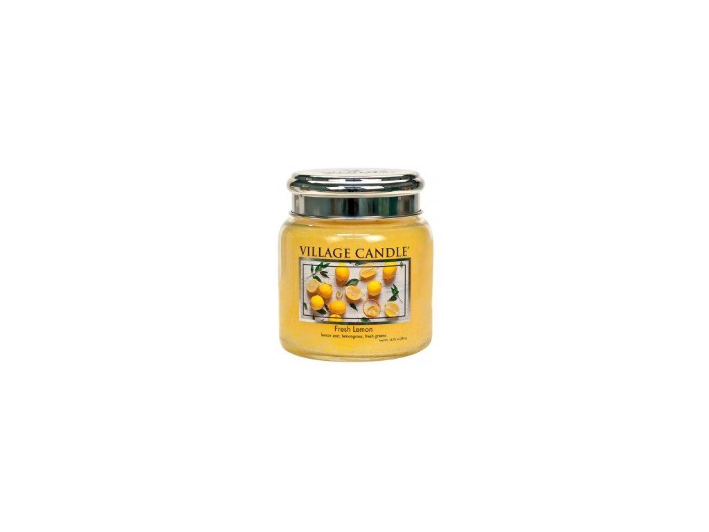 Village Candle Vonná svíčka Fresh Lemon, 389 g
