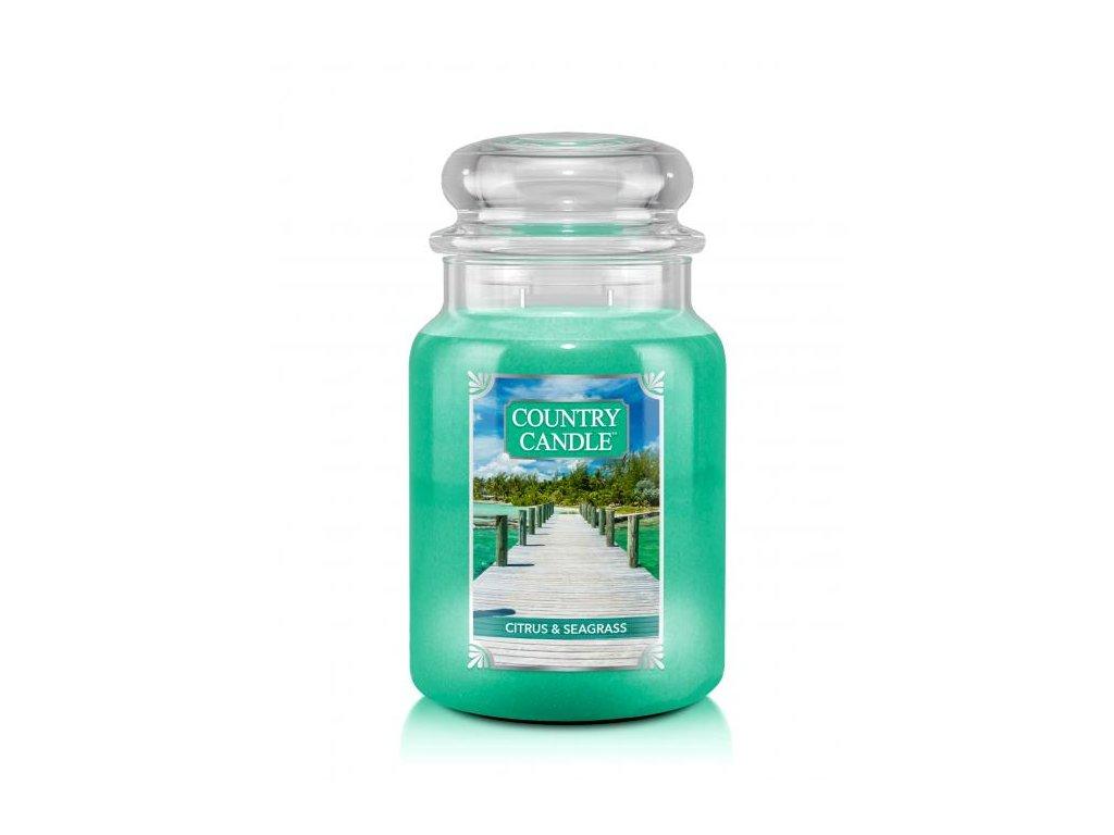 Country Candle Vonná Svíčka Citrus & Seagrass, 652 g