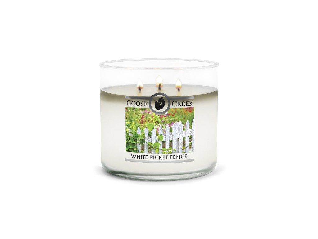 Goose Creek Candle svíčka White Picket Fence, 411 g