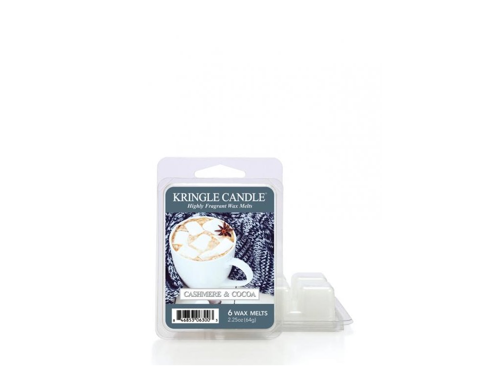 Kringle Candle Cashmere & Cocoa Vonný Vosk, 64 g