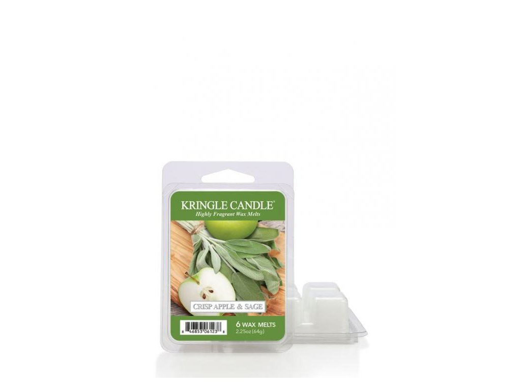 Kringle Candle Crisp Apple & Sage Vonný Vosk, 64 g