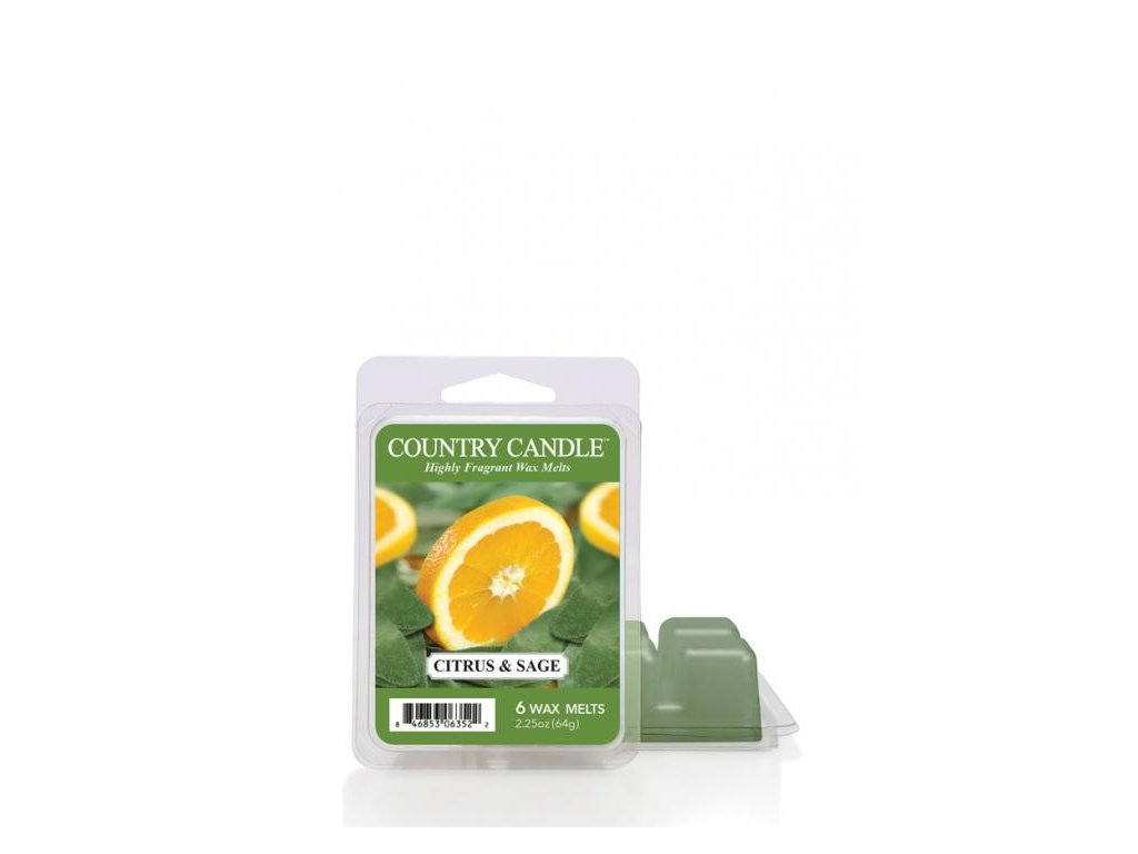 Country Candle Citrus and Sage Vonný Vosk, 64 g