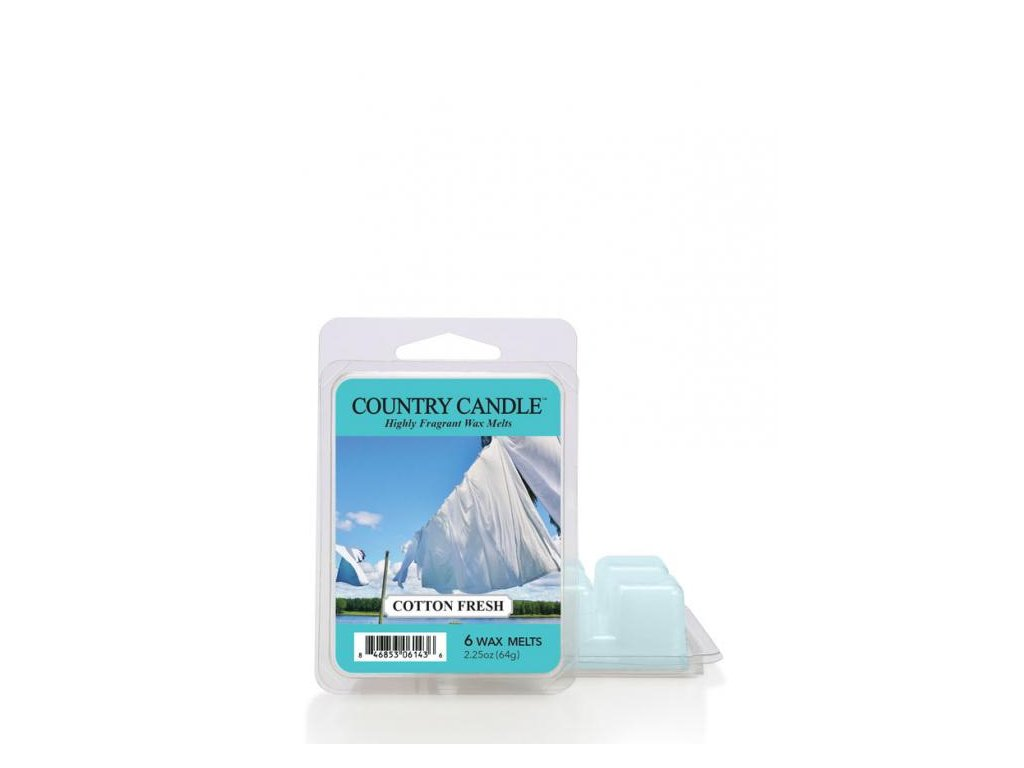 Country Candle Cotton Fresh Vonný Vosk, 64 g