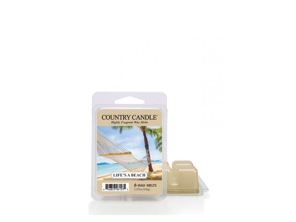 Country Candle Life s Beach Vonný Vosk, 64 g